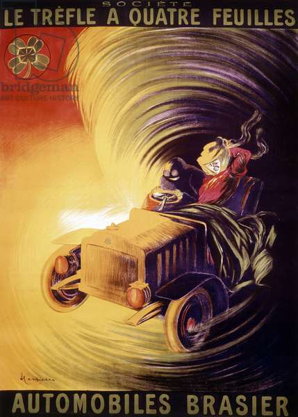 Advertisement by Leonetto Cappiello for the Brasier cars in France around 1900