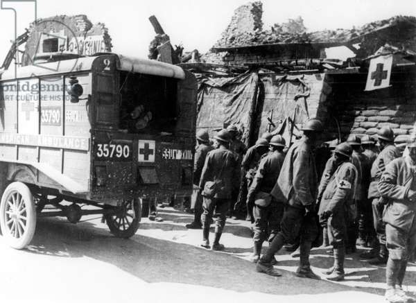 American ambulance (Red Cross) for the wounded during the great war c. 1917