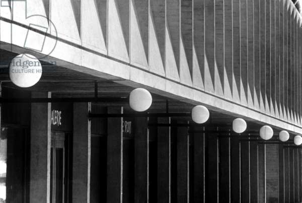 shopping arcade built by Marcel Breuer (Bauhaus style) in Flaine (France, 1968)