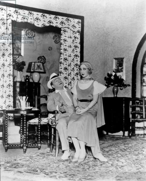 French actor Sacha Guitry and actress Yvonne Printemps (his 2nd wife, 1917-1932) in play in the 20's