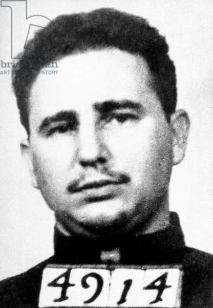 Fidel Castro when he was Batista's prisoner in 1953-1955, photo taken after his arrest on july 1953 in the attack of the Moncada barracks in Santiago of Cuba. This will lead to creation of 26th of July Movement or M-26-7