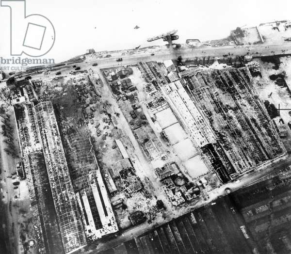 Allied bombings by Royal Airforce RAF on Boulogne Billancourt (nearParis) in march 1942