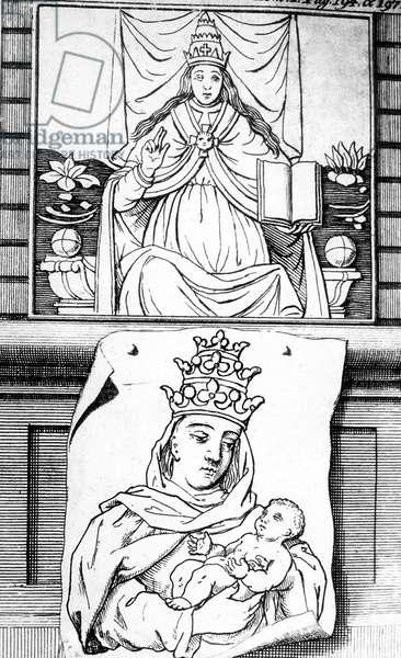 Pope John (822-857) (litho)