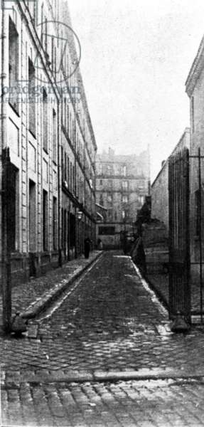 Hospital Saint Louis area where Vincenzo Peruggia hide the Mona Lisa in Paris after her theft at the Louvre on august 21, 1911