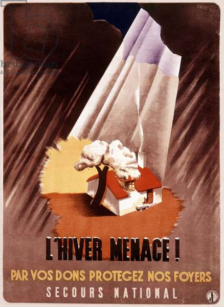French poster for the secours national, 1941