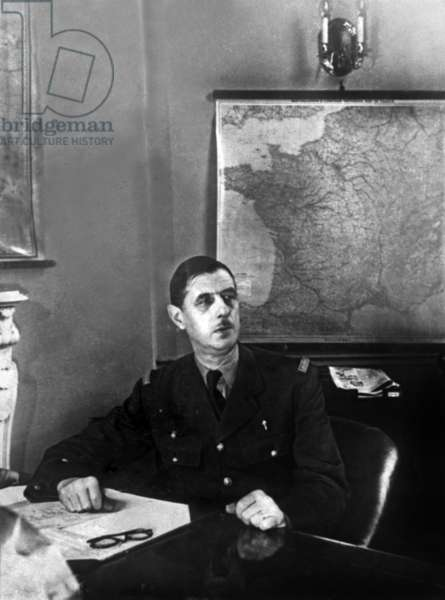 French general General de Gaulle in London, 1940