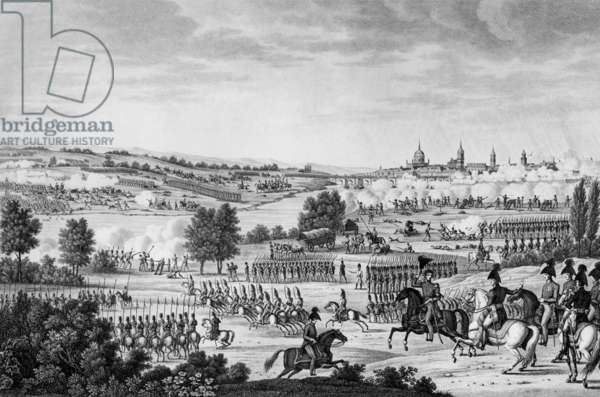 German campaign : battle of Dresden august 26-27, 1813 : napoleonic victory against Russia, Austria, Prussia, engraving