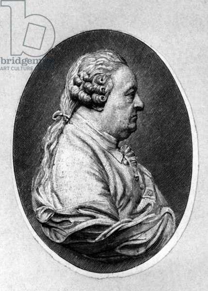 Johann Caspar Goethe (1710-1782) father of Johann Wolfgang von Goethe, engraving