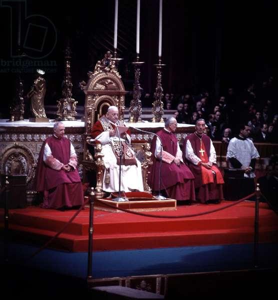 Pope John XXIII (1881-1963, Ange Joseph Roncalli, pope in 1958-1963) in Rome in 1962