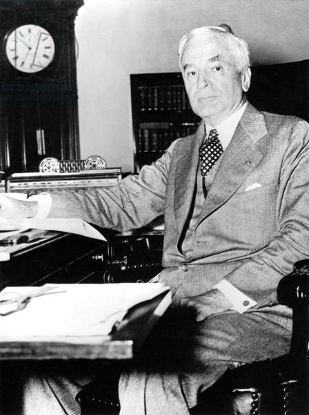 American secretary of state Cordell Hull here in his office in Washington after invasion of Poland by Germany september 1, 1939