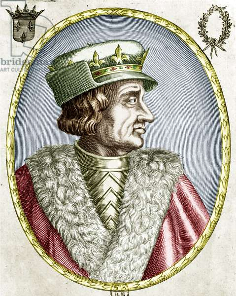 Charles VI (son of king CharlesV and queen JaneofBourbon) king of France from 1380 to 1422, engraving