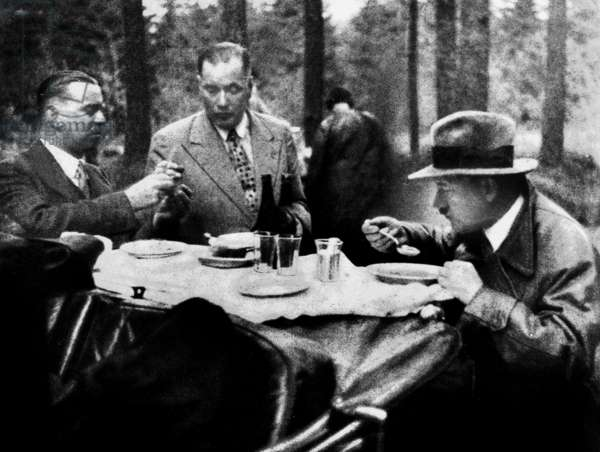 Adolf Hitler during picnic with close friends c. 1935