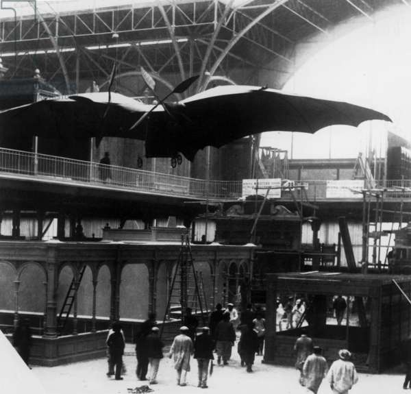 Avion III designed by Clement Ader at world fair in Paris in 1900
