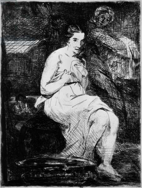 La Toilette, 1861 (engraving)