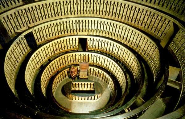 anatomical theater at the Padoue university : lecture hall for the lessons of anatomy