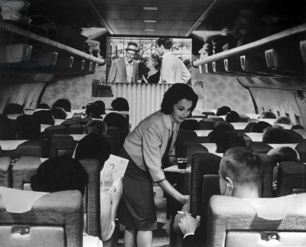 Haute societe High society de CharlesWalters avec Frank Sinatra 1956 dans un Boeing 707 de la TWA