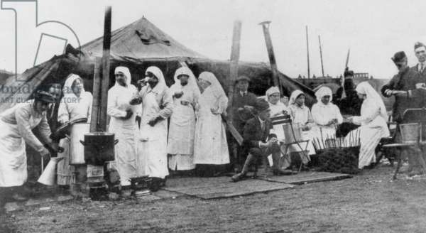 A Red Cross post, France, ww1
