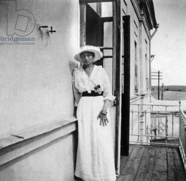 Grand duchess Tatiana (1897-1918) daughter of czar NicolasII, prisoner in Tobolsk from october 1917 to may 1918, she will be shot with her family in Iekaterinbourg on night from july 16 to july 17, 1918