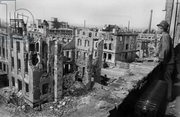 Ruins of Dresden after bombings, august 1946