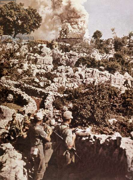 Monte Cassino battle (Italy) in 1944 : troops of german marshal Kesserling