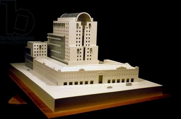scale model by spanish architect Ricardo Bofill, Smolenskaya Moscow Russia