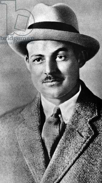 American writer Ernest Hemingway (1899-1961) in 1933 in Paris