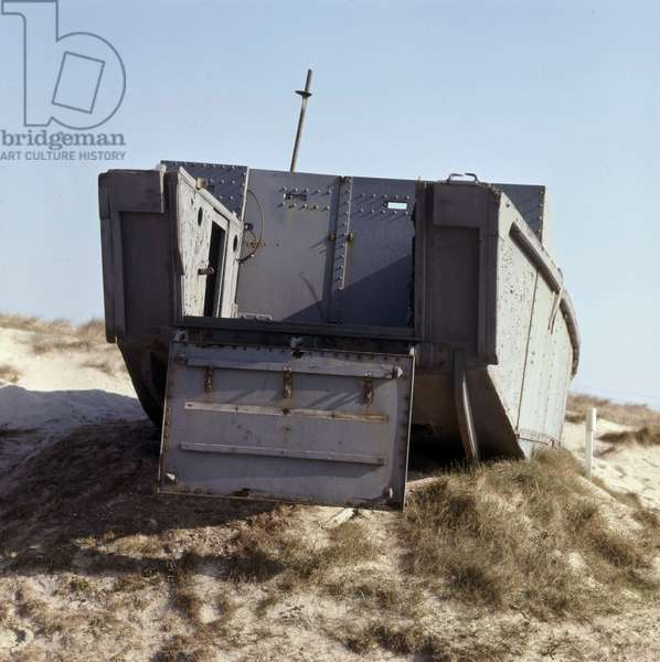 A LCA (landing craft assault) in Utah Beach (Normandy) used for landing on june 6, 1944