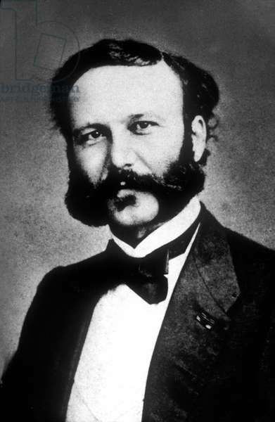 JEAN-HENRY DUNANT (1828-1910) Swiss philanthropist, He was the principal founder of The Red Cross in 1863 and he won the Nobel Prize in 1901.
