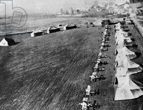 Squadron of german pilot Manfred von Richthofen : Albatros D-3 planes, 1917