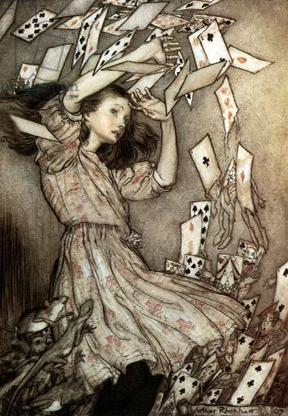 Alice's Adventures in Wonderland  (aka Alice Trough The Looking Glass) by Lewis Carroll, Illustration by Arthur Rackham in 1907
