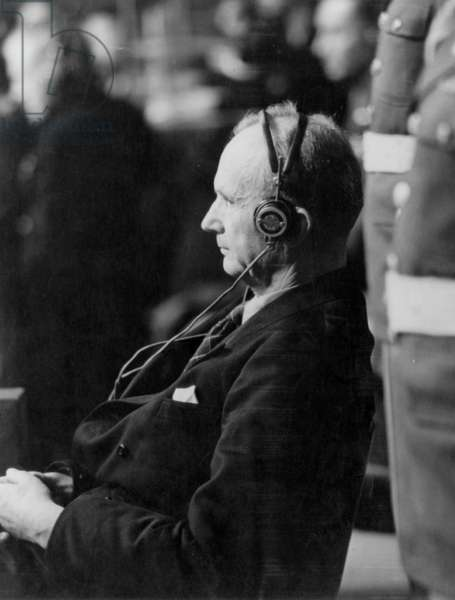 Karl Donitz, commander-in-chief of german navy and successor to AdolfHitler during Nuremberg trial (1945-1946) : he was sentenced to 10 years' imprisonment