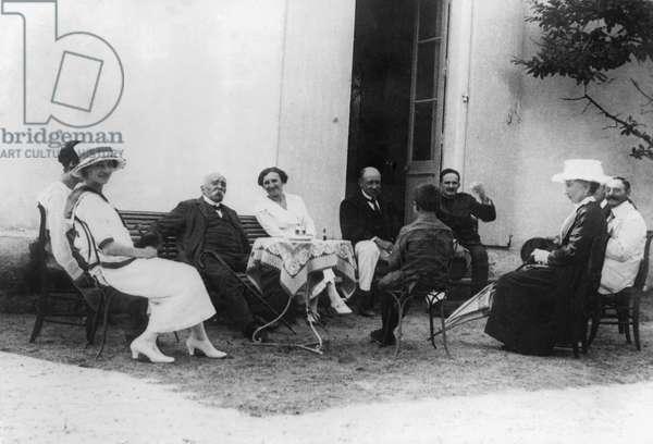 Georges Clemenceau 1841-1929 at his house a La Tranche sur mer, c.1920