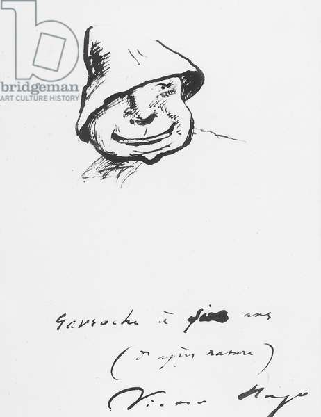 Gavroche at five  years, drawing by Victor Hugo