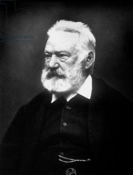 Victor Hugo (1802-1885) French poet and novelist, here c. 1885