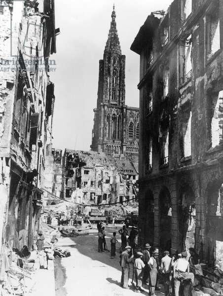 Allied bombings on Strasbourg, France, august 11, 1944