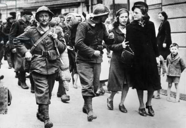 Operation Dynamo : on june 3, 1940 : French soldiers evacuated from Dunkirk, here arriving in England