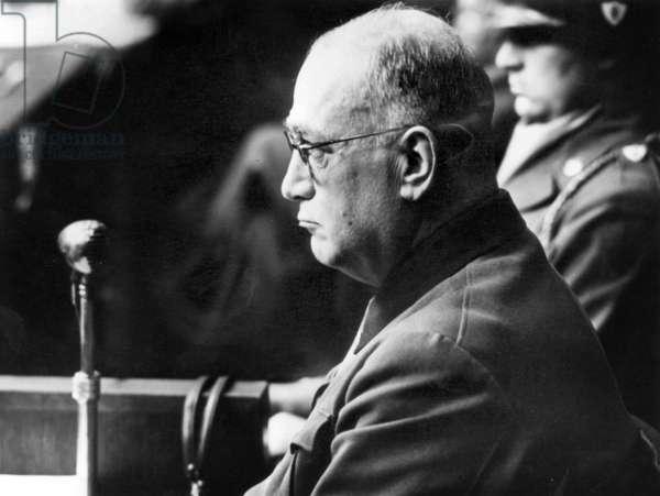 Doctors' trial in Nuremberg (1946 - 1947) : Paul Rostock, photo NARA
