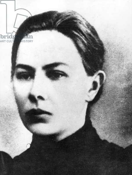 Nadezhda Krupskaya (1869-1939) wife of Lenin here when she was a student