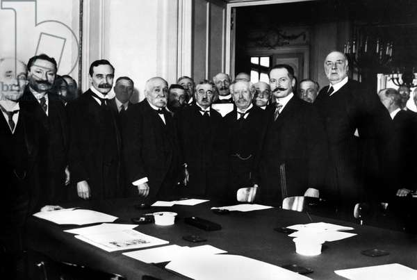 French president Georges Clemenceau during reception of british parliamentary team by French parliamentaries, located on Boulevard Saint Germain in Paris february 22, 1916