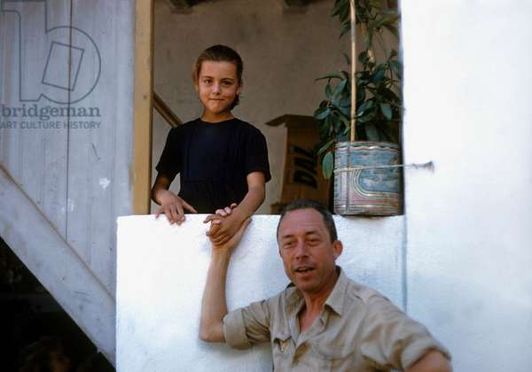 Albert Camus (1913-1960) on holidays in Greece, june 1958