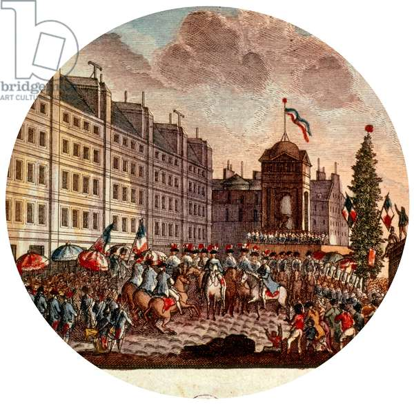 Announcing of the vote of the constitution september 18, 1791 at the time of French Revolution France