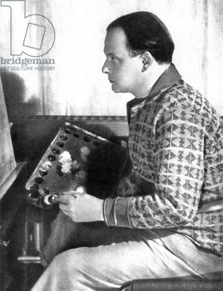 Paul Klee (1879-1940) german painter, in his workshop c. 1920