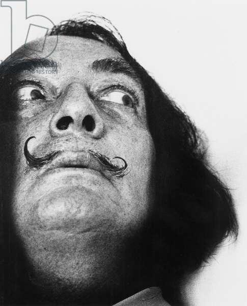 Salvador Dali  Portrait, 1963 (b/w photo)