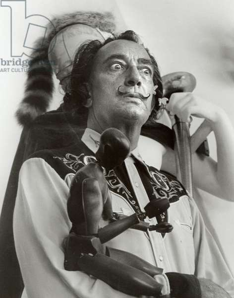 Salvador Dali with wooden