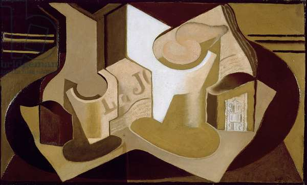 Still Life with Newspaper, 1921 (oil on canvas)