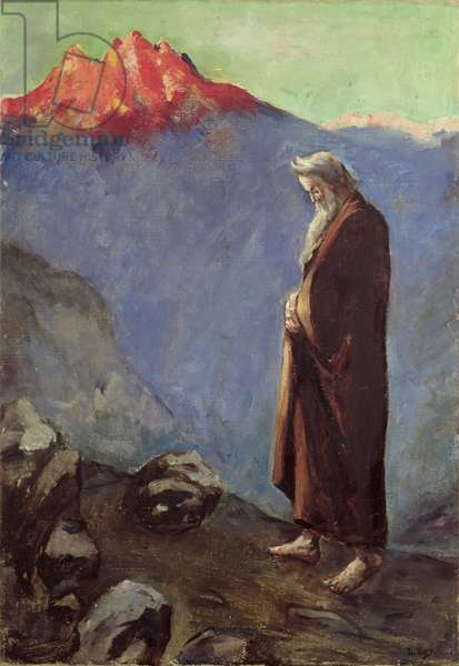 Moses (Approaching Mt. Sinai), 1905-07 (oil on canvas)