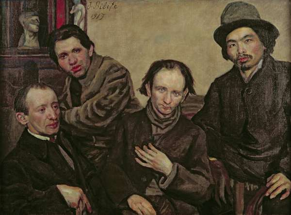 Meeting of the Painters, 1919 (oil on canvas)