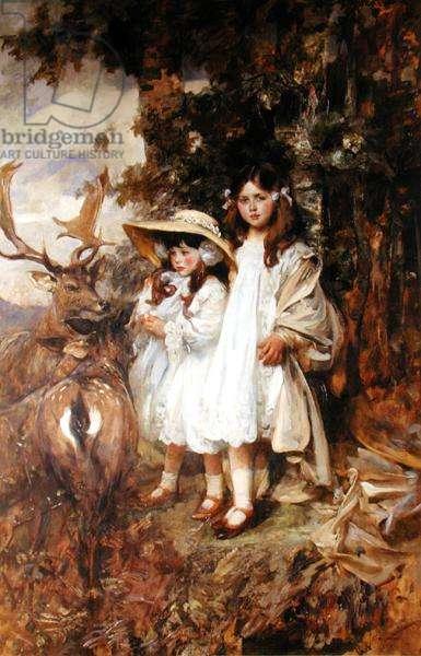 Irene and Frida Mond (oil on canvas)