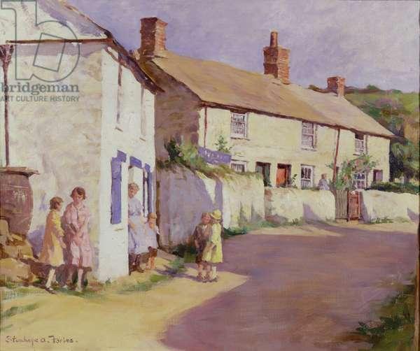 A Village Scene, Newlyn