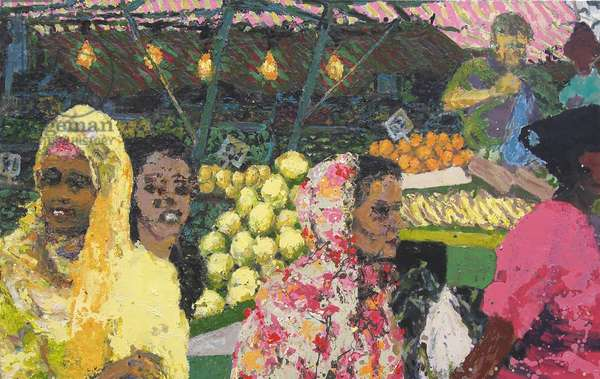 Ridley Road Market (London), 2002 (oil on canvas)